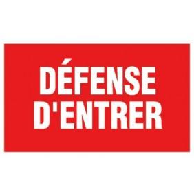 Panneaux rouges d'interdiction - 330 x 200 mm NOVAP