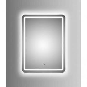 Miroir rectangulaire à LED - Silver Cultura - 40x60x5cm AURLANE