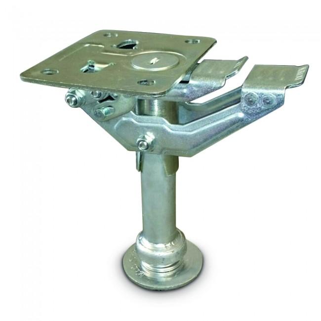 Patin d'immobilisation - acier embouti zingué - platine 140 x 115 mm TENTE