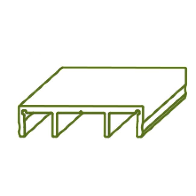 cache rail bas pour porte coulissante symfo 60 rob bricozor