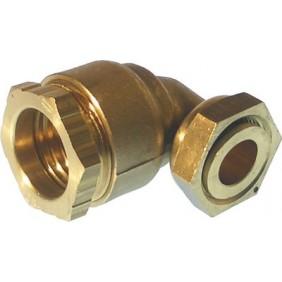 Coude à écrou serti 90° à serrage extérieur pour tube PE HUOT