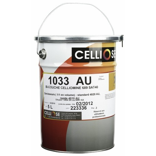 Vernis de finition bi-couche PU 1033 AU Celliomine 5L