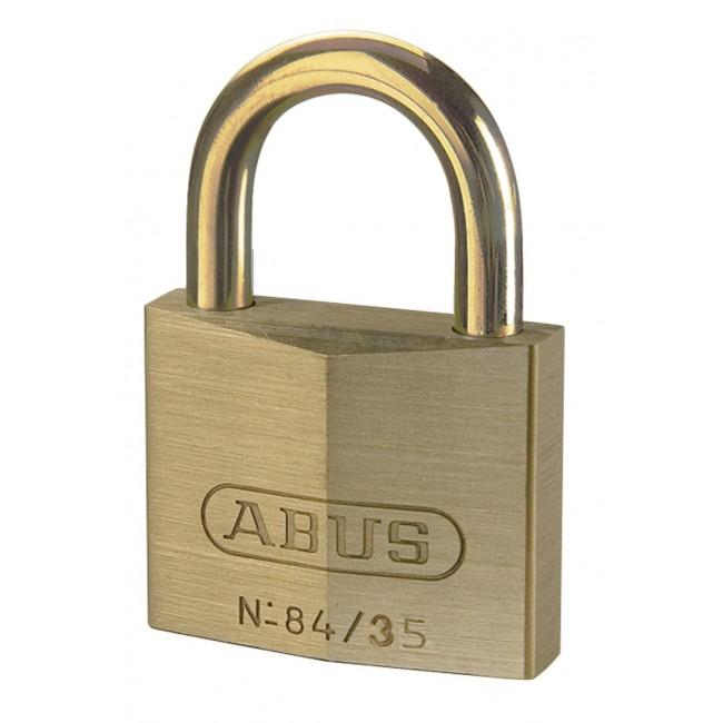 Cadenas à clé - laiton - anse laiton - largeur 35mm - 84MB/35 ABUS