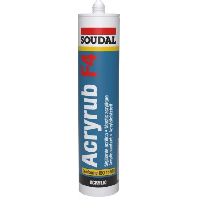 Mastic de rebouchage - acrylique - 300 ml - Acryrub F4 SOUDAL