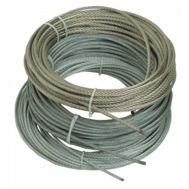 Câble acier inox 316, 7 torons de 7 fils, âme métallique, souple BRICOZOR