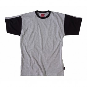 Tee-shirt Work Attitude gris et noir LAFONT