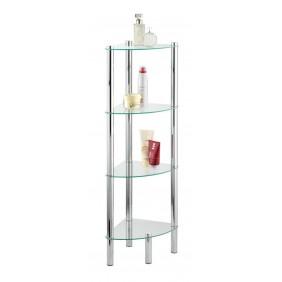 Étagère de salle de bain d'angle - Yago - 4 tablettes en verre WENKO