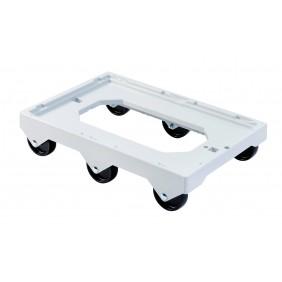 Socle rouleur - 6 roues - pour bacs et caisses GILAC
