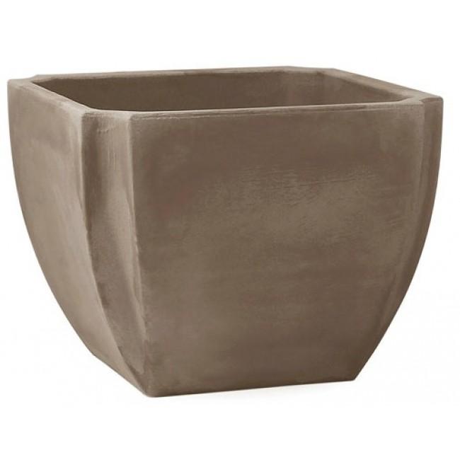 Bac à fleurs carré taupe - 110 litres - taupe - Palmea  13901