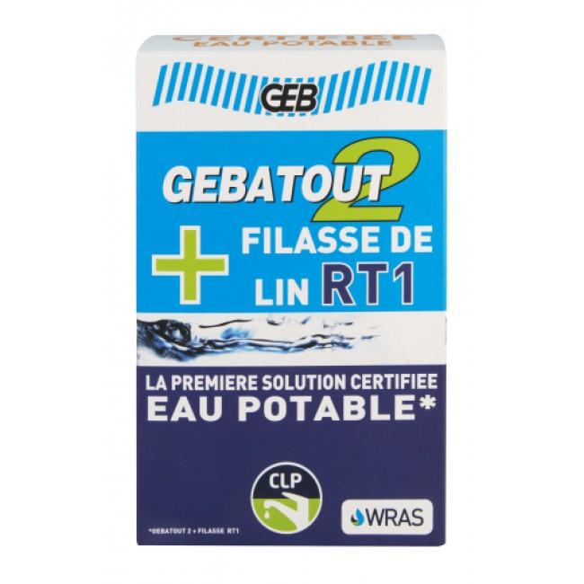 Pâte Gebatout 2 500g + Filasse de lin peignée RT1 80g GEB