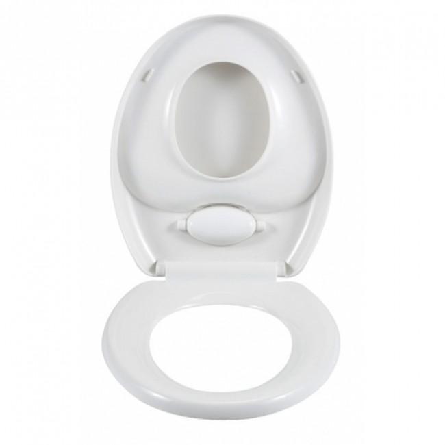 Abattant WC et réducteur de toilette intégré - 2 en 1 - Easy-Close WENKO