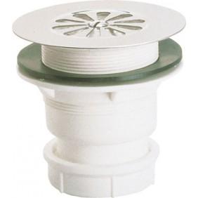 Bonde de douche à grille inox 60 mm - sortie verticale NICOLL