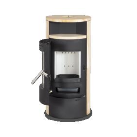 Poêles à bois 7Kw - Pierre de Sable - combustion continue - ELSA Interstoves