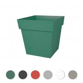 Pot carré bas - 38 litres - Toscane 13627 EDA PLASTIQUES