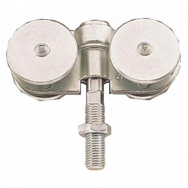 Roulettes doubles pour porte coulissante 150 kg - faible encombrement ROB