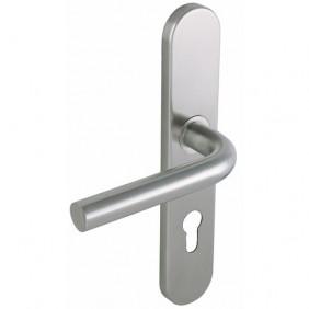 Poignées de porte sur plaques - inox - LINOX 491 VACHETTE