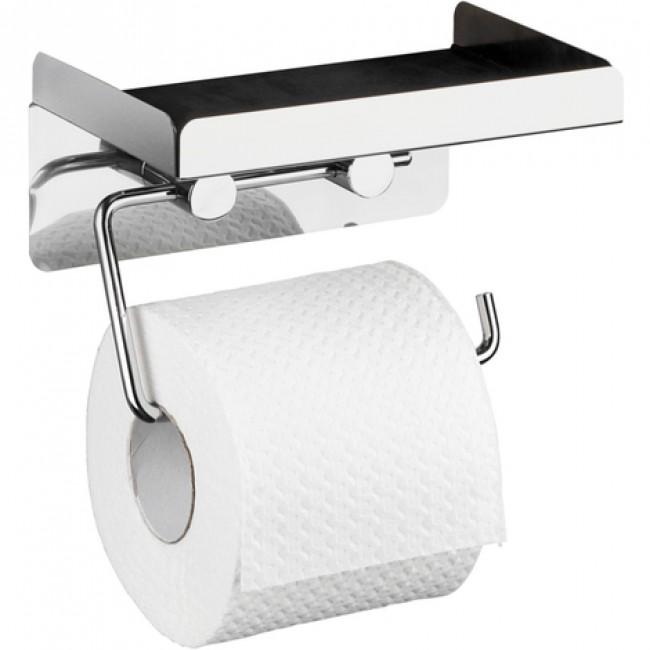 Dérouleur papier WC - avec tablette - Support mural WENKO