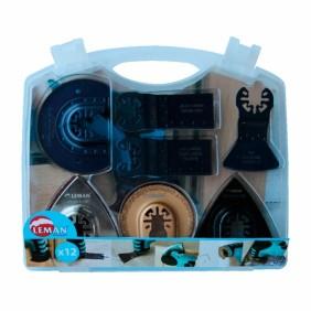 Coffret 12 accessoires multi-matériaux pour outil multifonctions LEMAN