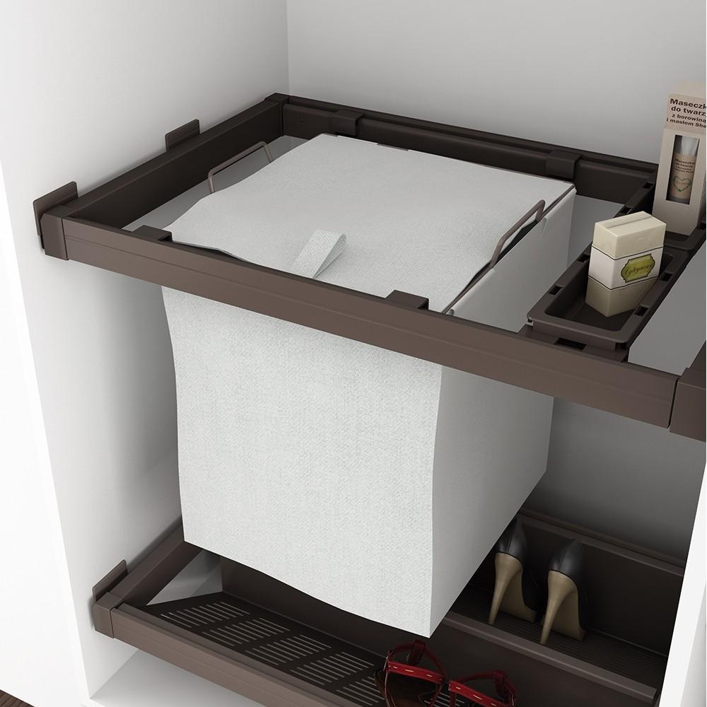 panier linge coulissant moka emuca bricozor. Black Bedroom Furniture Sets. Home Design Ideas