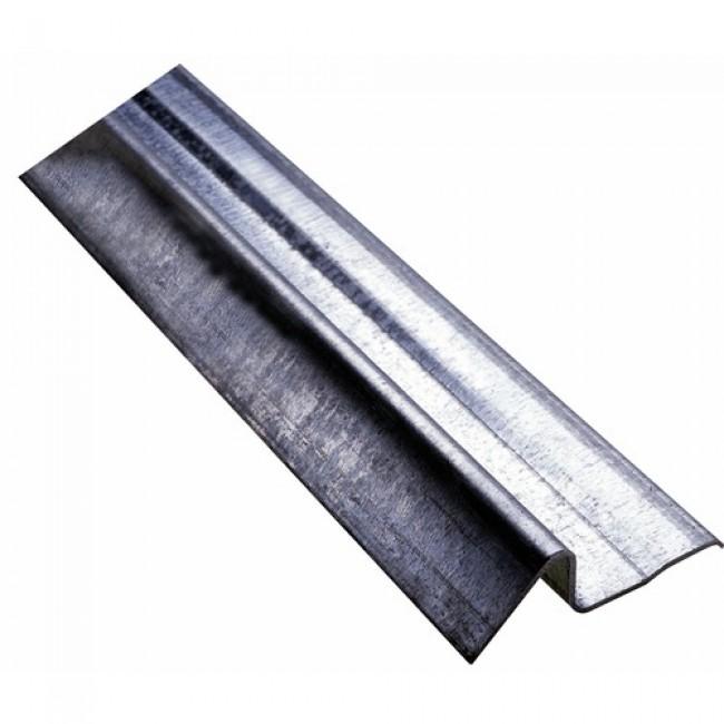 Seuil de porte de garage en acier galvanisé - longueur 3 m BILCOCQ