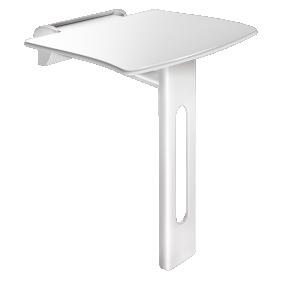 Siège de douche relevable - amovible - avec pied Be-Line blanc DELABIE