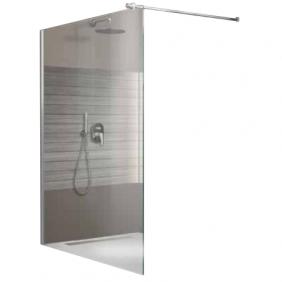 Paroi de douche à l'italienne Open 2 - verre transparent - 140 cm LEDA