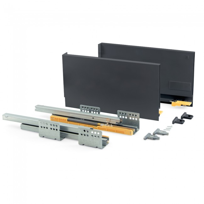 Kit tiroir Concept-hauteur 185 mm-anthracite EMUCA