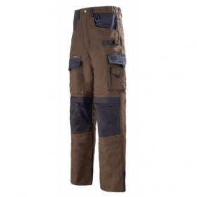 Pantalons Work attitude marron/noir LAFONT