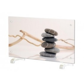 Chauffage décoratif design horizontal - 2000W - Galets Zen CHEMIN' ARTE