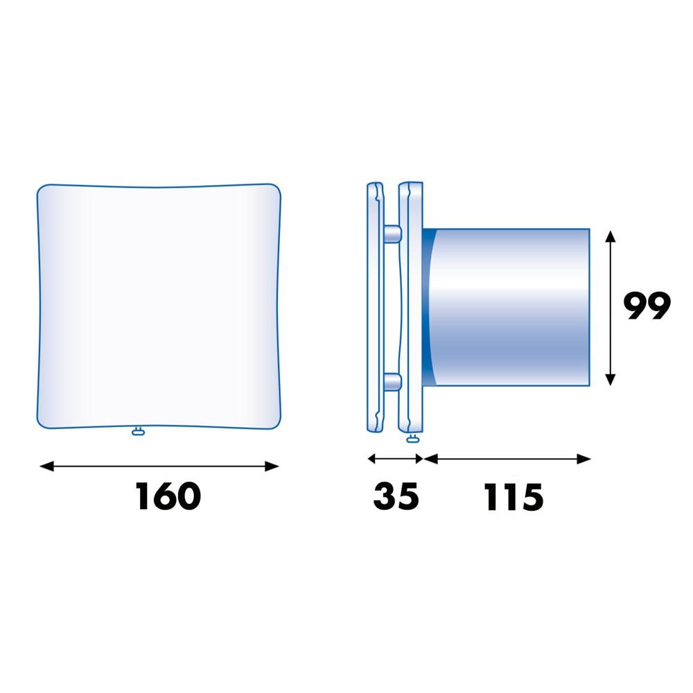 extracteur d 39 air permanent vpi style 100 atlantic bricozor. Black Bedroom Furniture Sets. Home Design Ideas