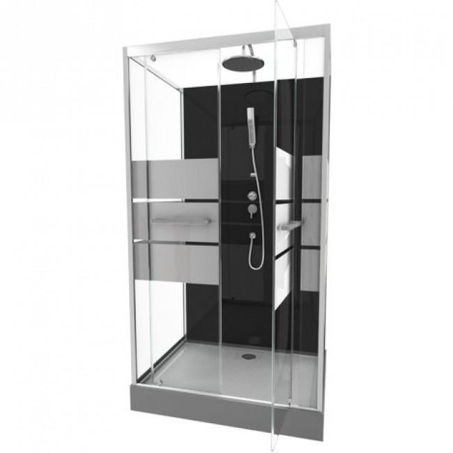 Cabine de douche Study - 110x80 - porte pivotante AURLANE