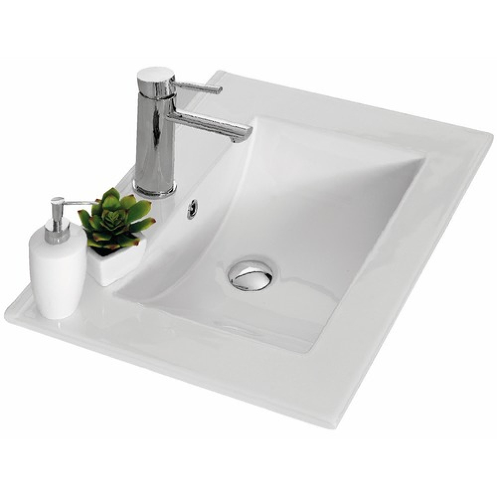 Meuble de salle de bains complet largeur 60 cm angelo n ova bricozor - Meuble salle de bain complet ...