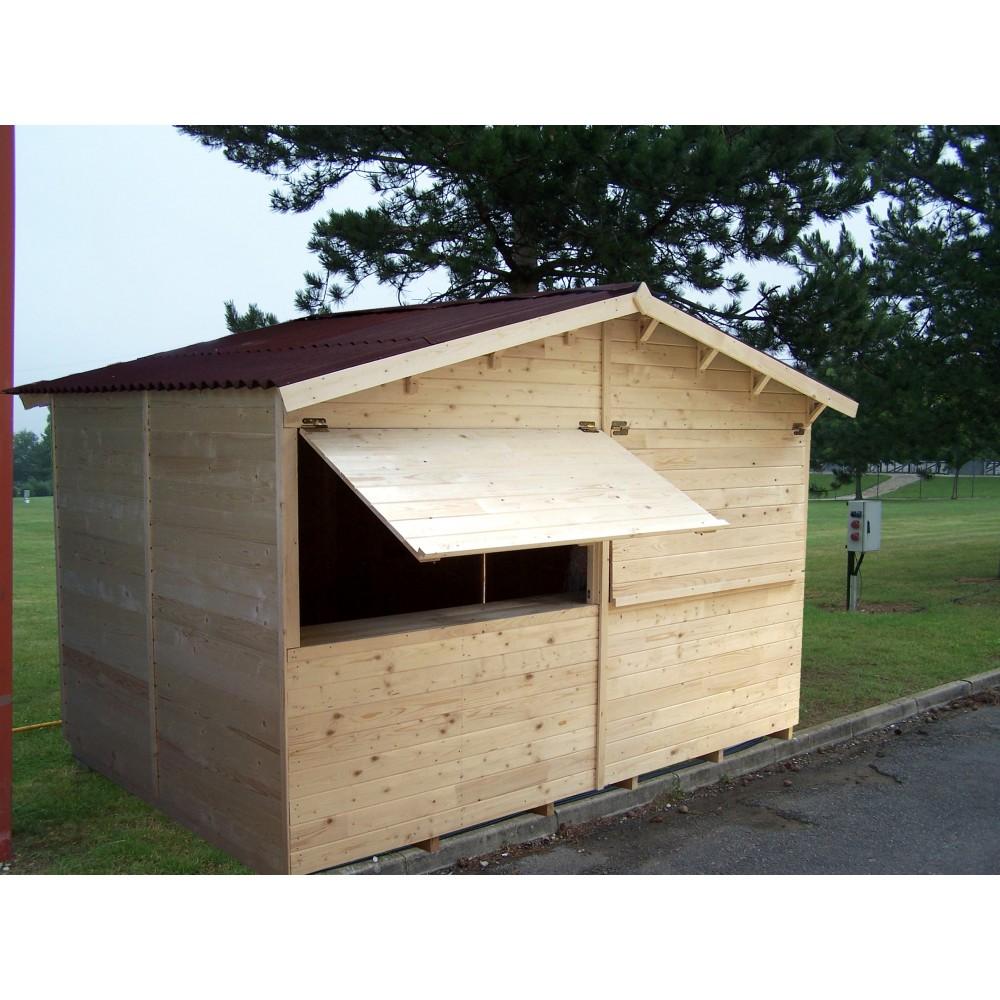 echoppe marchande en picea 3 6 x 2 4 m habrita bricozor. Black Bedroom Furniture Sets. Home Design Ideas