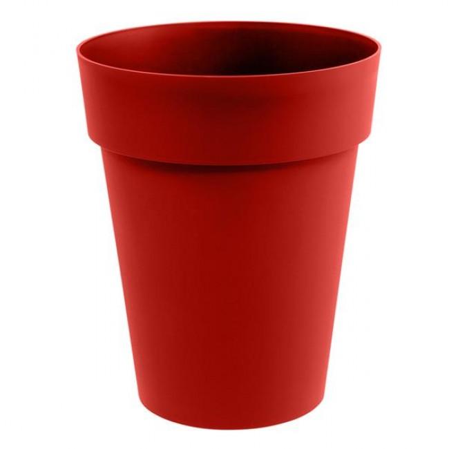 Pot rond mi-haut 44 cm rubis - 50 litres - Toscane 13629 EDA PLASTIQUES
