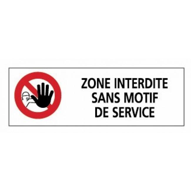 Rectangles d'interdiction rouges - 450x150 mm - norme Afnor NOVAP