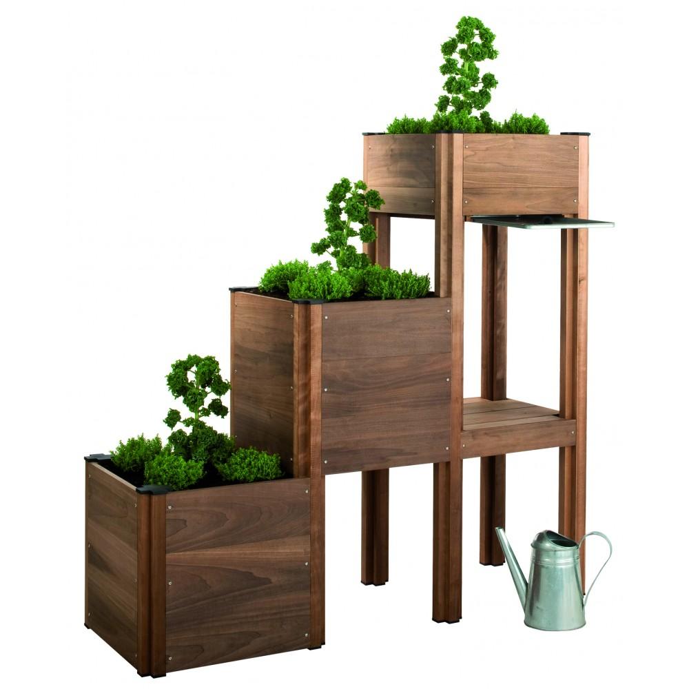 carr potager b b i o sur pieds et tablette bricozor. Black Bedroom Furniture Sets. Home Design Ideas