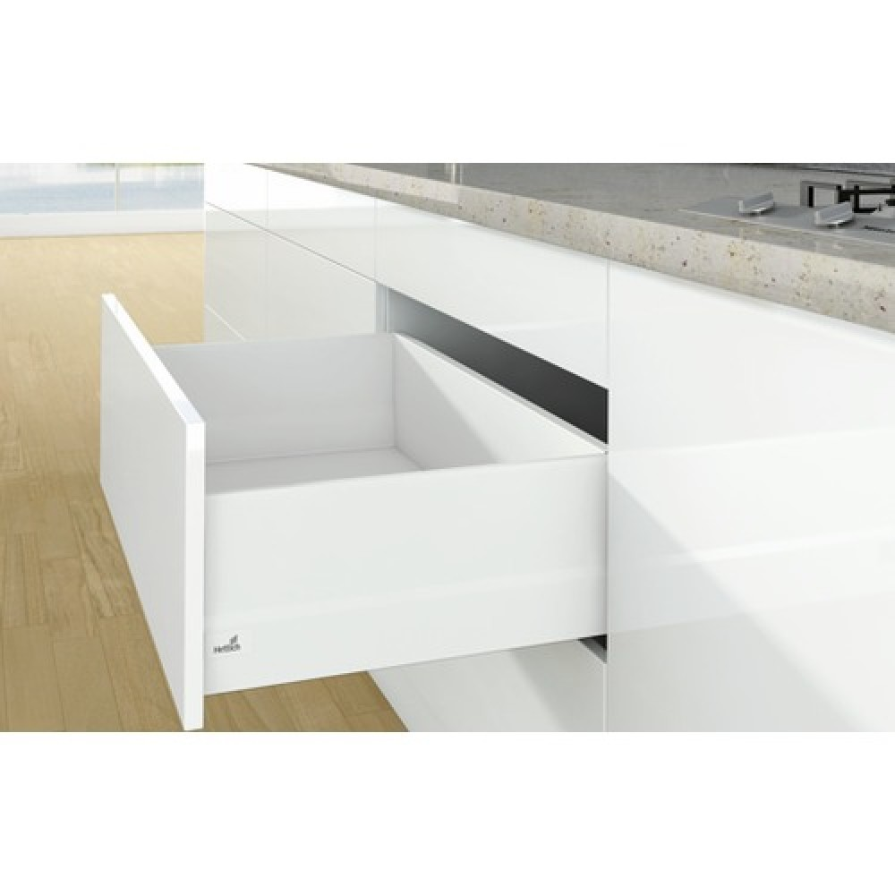 kit tiroir topside arcitech profil h94 dos h218 mm blanc hettich bricozor. Black Bedroom Furniture Sets. Home Design Ideas