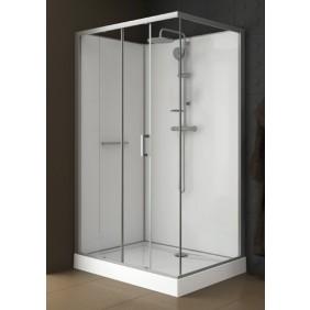 Cabine de douche d 39 angle au meilleur prix bricozor Porte de douche coulissante arrondie