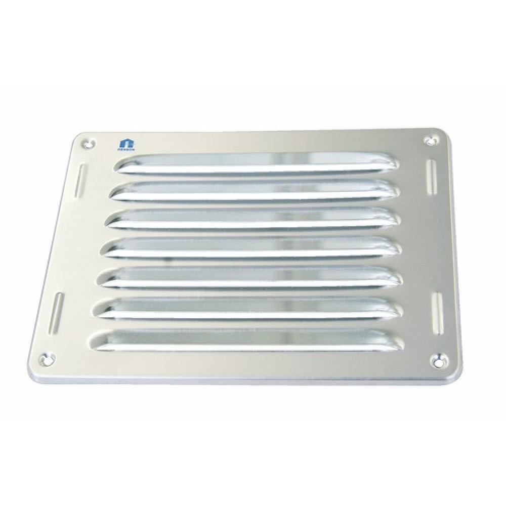 Grille de ventilation persiennes aluminium sans moustiquaire bricozor bricozor - Grille de ventilation aluminium ...