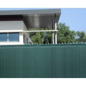 Brise vue de 25 m - HDPE 300 g - coloris vert - 1,2 à 2m JET7GARDEN