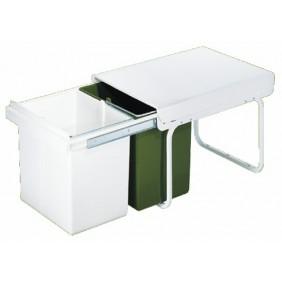 poubelle de cuisine coulissante bricozor. Black Bedroom Furniture Sets. Home Design Ideas