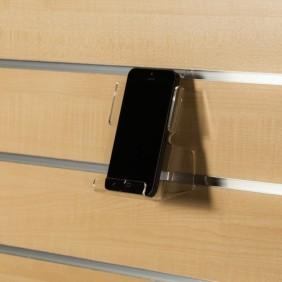 Porte smartphone et tablette pour panneaux rainurés