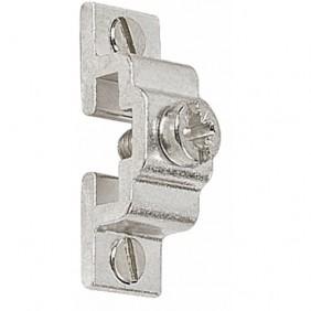 Support en aluminium satiné pour tringles de vitrage SIMILAIRE
