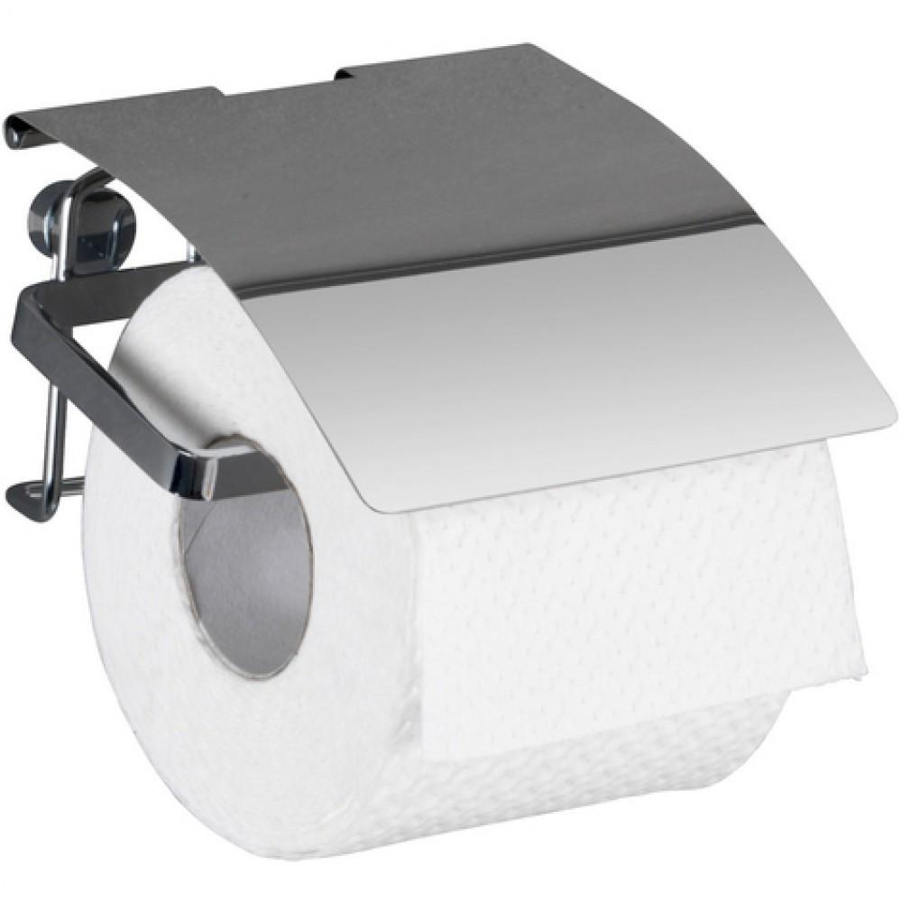 Dérouleur Papier Wc Metal dérouleur papier wc -support mural avec couvercle - acier inox wenko sur  bricozor