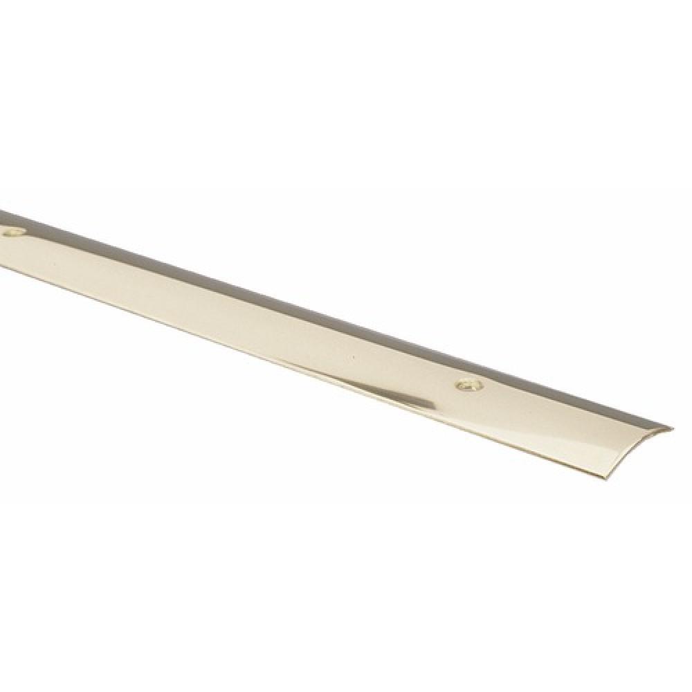 Barre de seuil visser laiton brillant 10 10e largeur for Barre de seuil a visser