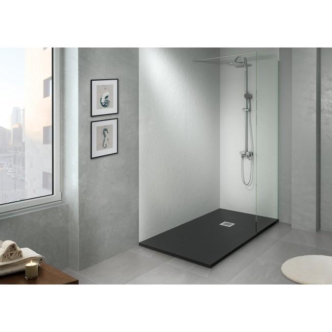 Panneau de douche mural-80 x 220 / 90x220 / 120x220 mm-Noir Gris ou Beige BATHLUXE