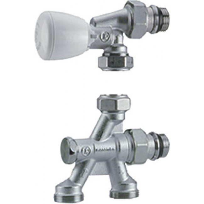 Corps de robinet thermostatique équerre monotube - 4 voies - R436TG GIACOMINI