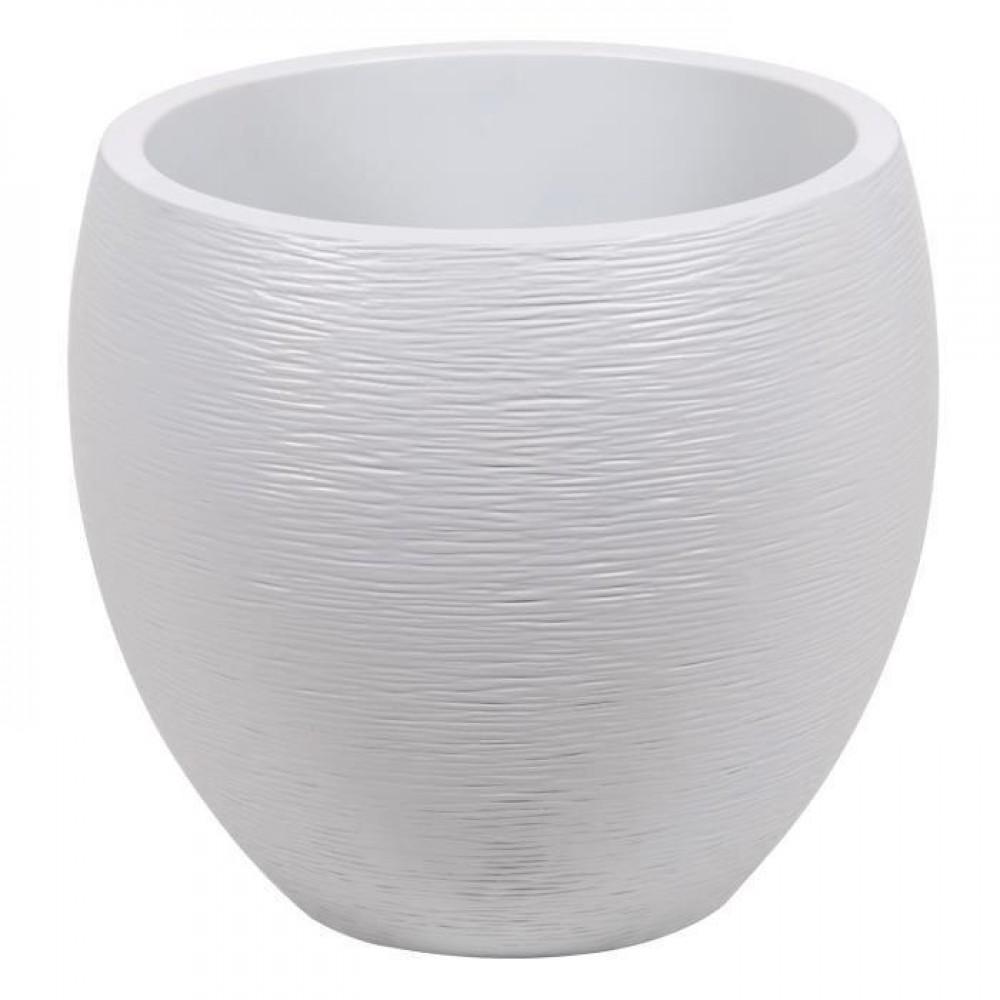Pot rond diam tre 50 cm contenance 46 litres graphit for Prix pot de crepi exterieur