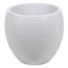 Pot rond - diamètre 50 cm - contenance 46 litres - Graphit blanc cérusé EDA PLASTIQUES