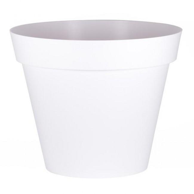 Pot rond blanc - diamètre 80 cm - 170 litres - Toscane 13623 EDA PLASTIQUES